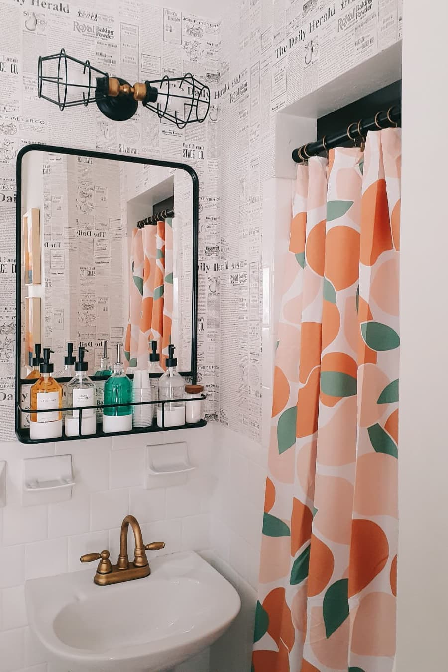 Beautiful and lively shower curtain