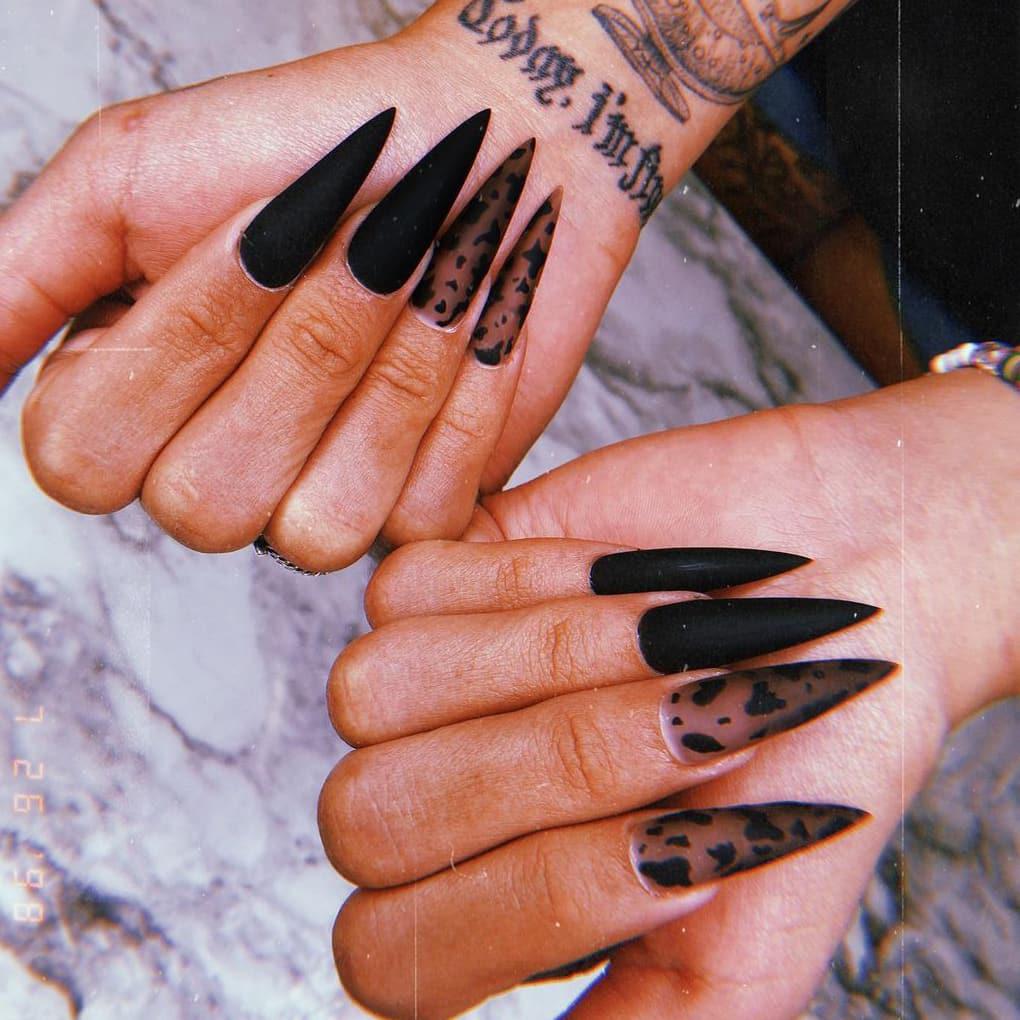 Black jelly nails