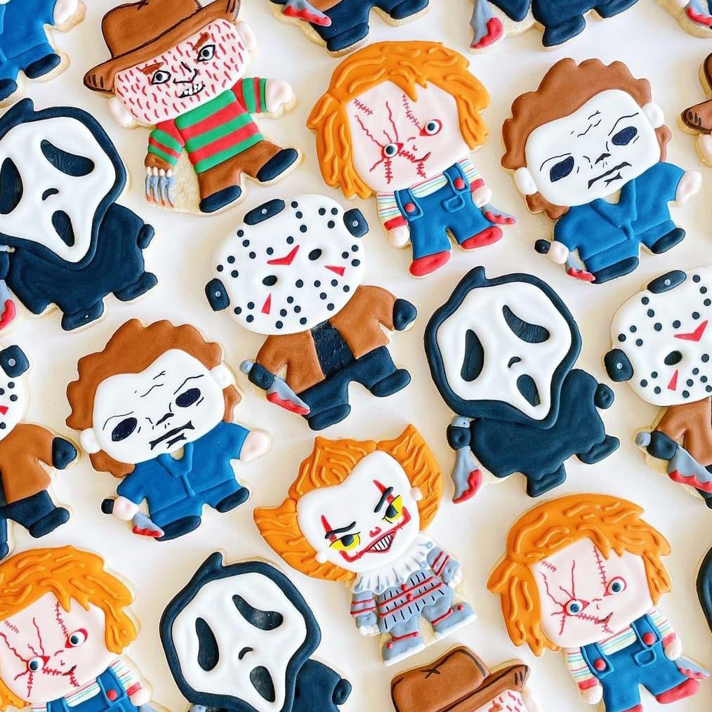 Cartoon Halloween Character Cookies