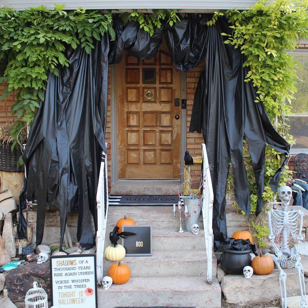 Cheap Halloween porch decoration