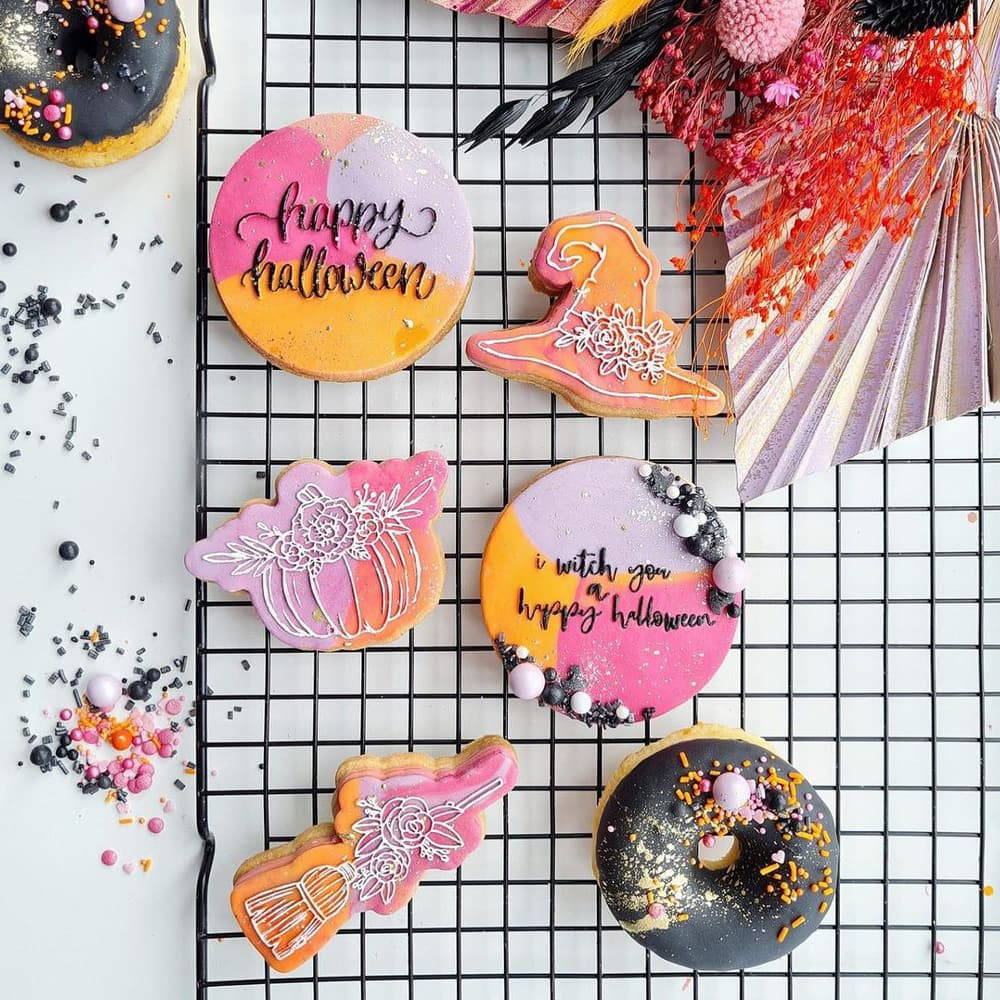 Colorful Halloween Cookies