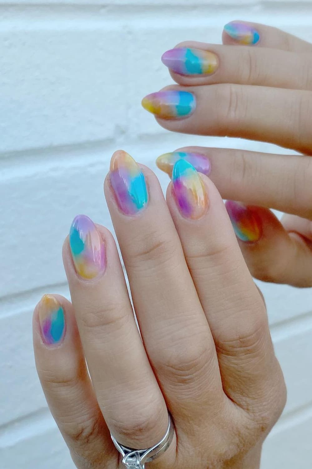 Colorful jelly nails