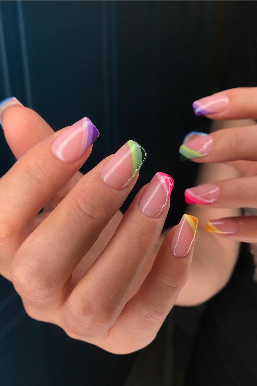 Creative French jelly nails