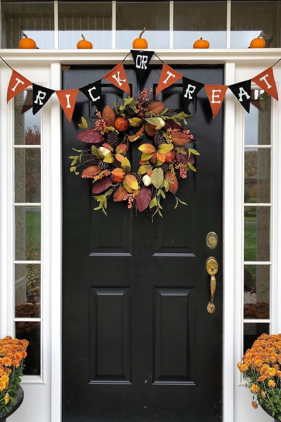 Elegant Halloween Porch
