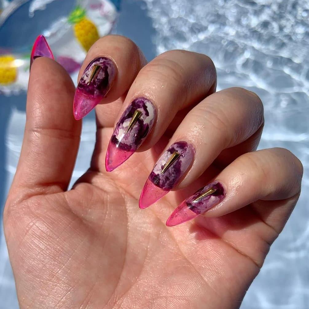 Elegant jelly nails
