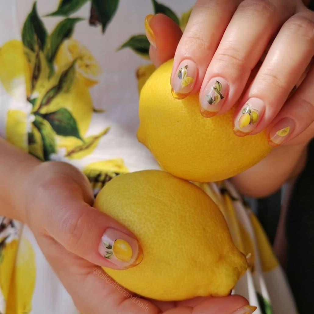 Fruit theme jelly nails