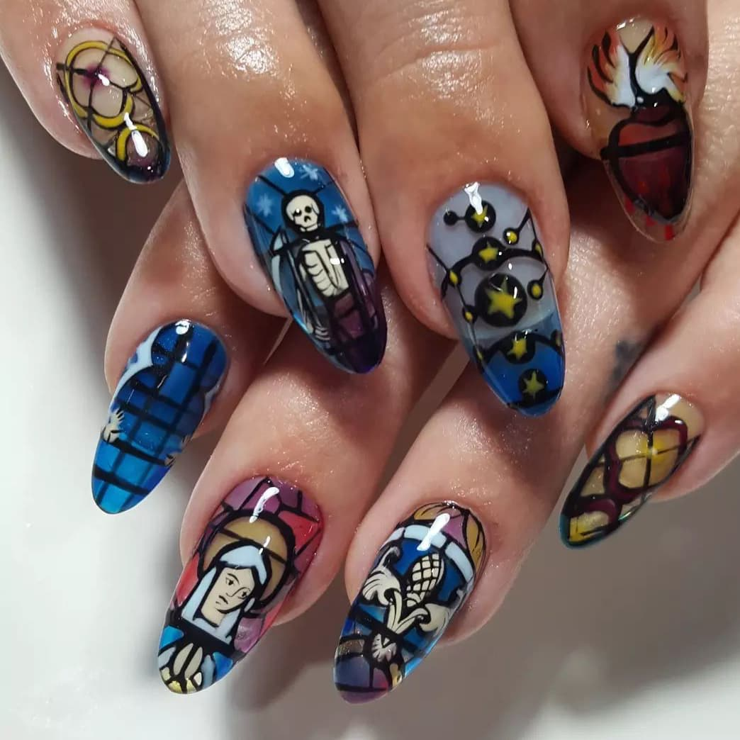 Glass jelly nails