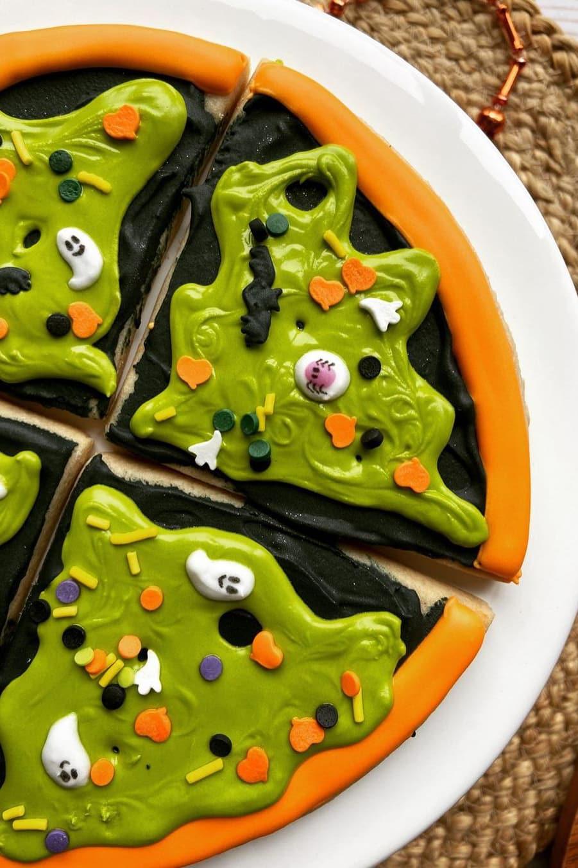 Halloween Pizza Cookies