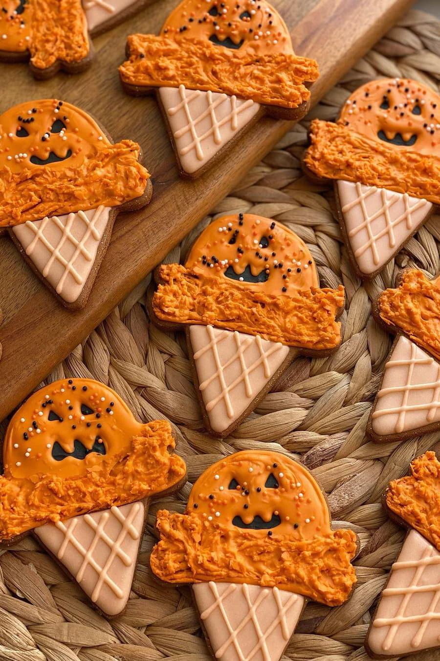 Halloween ice cream cookies