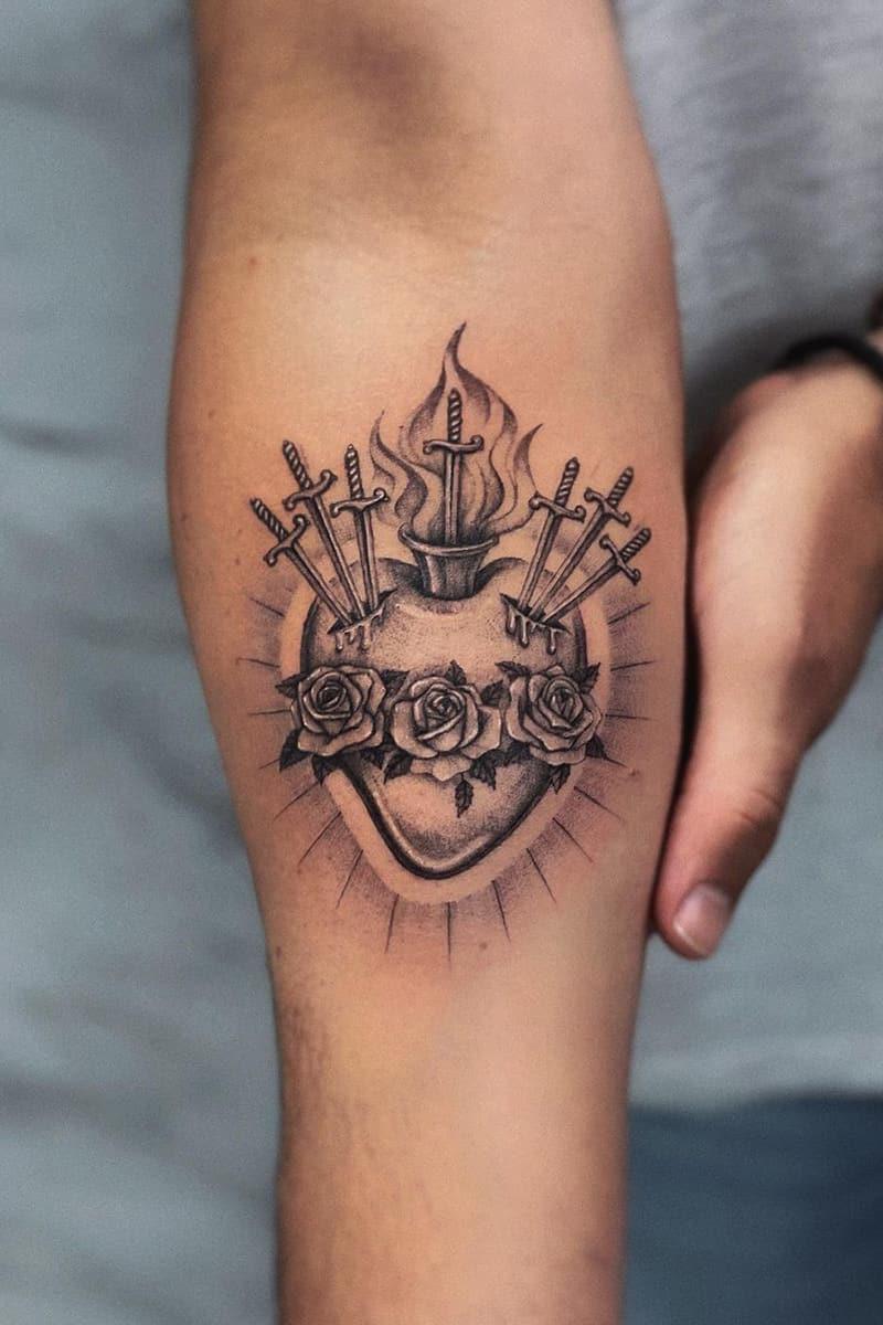 Heart and Sword Tattoo