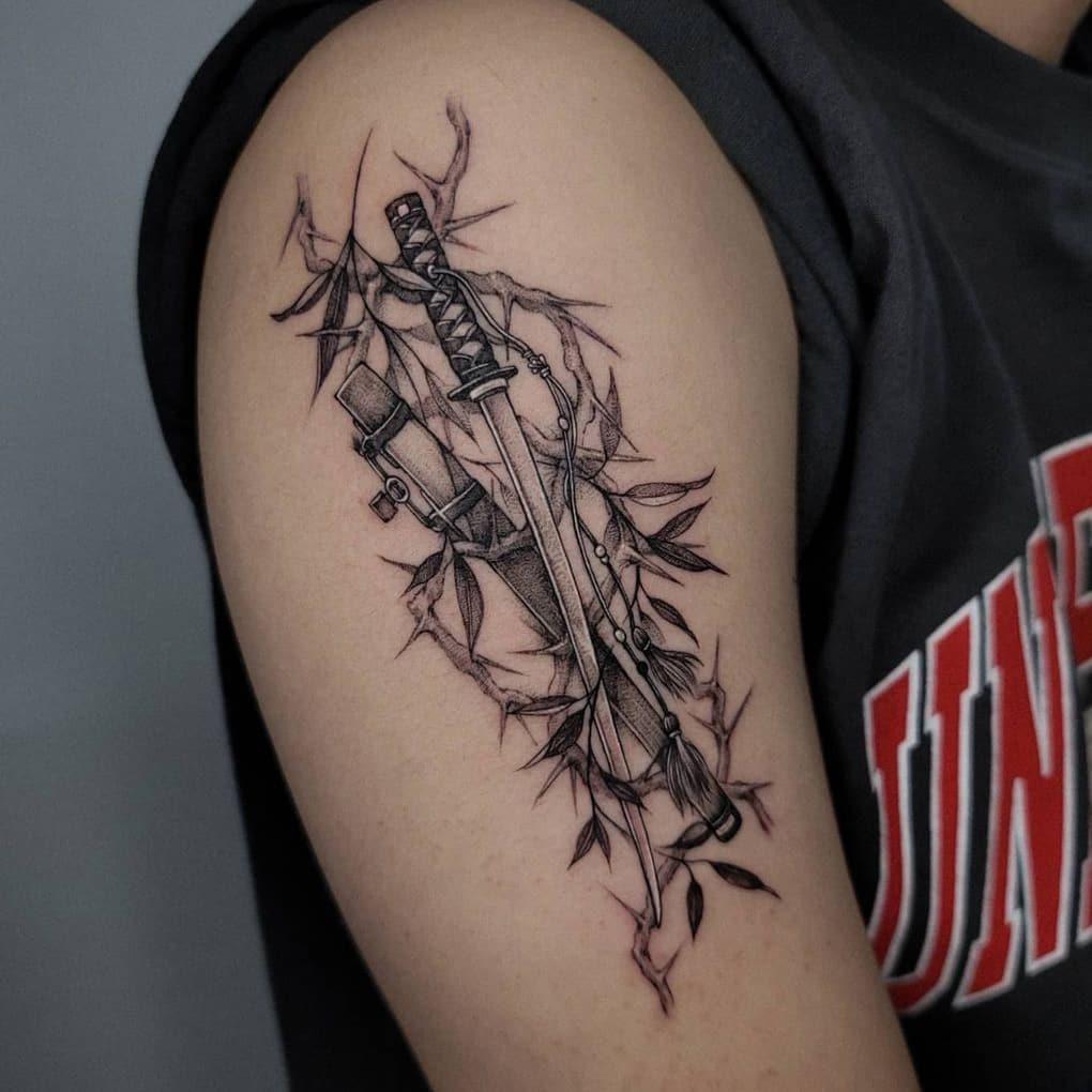 Japanese sword tattoo