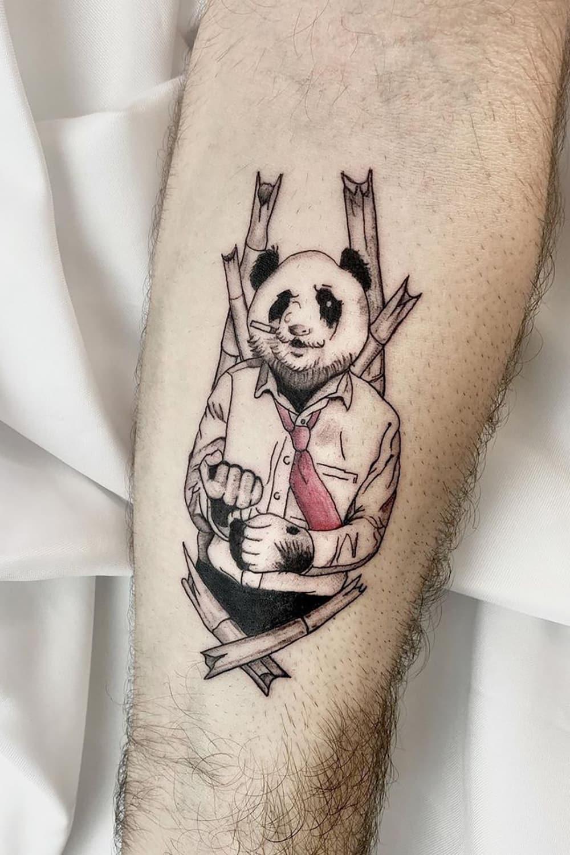 Mr. Panda Tattoo