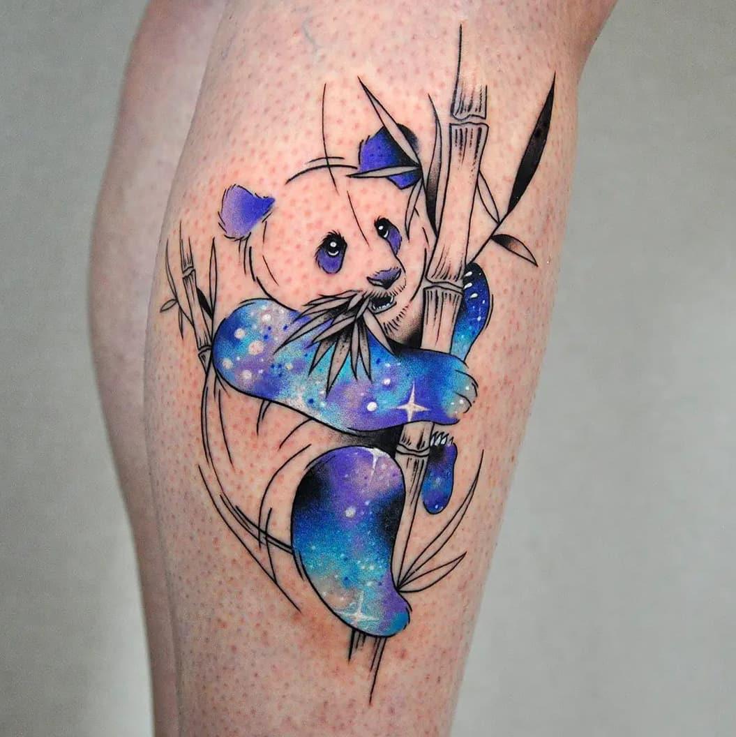 Panda Galaxy Tattoo