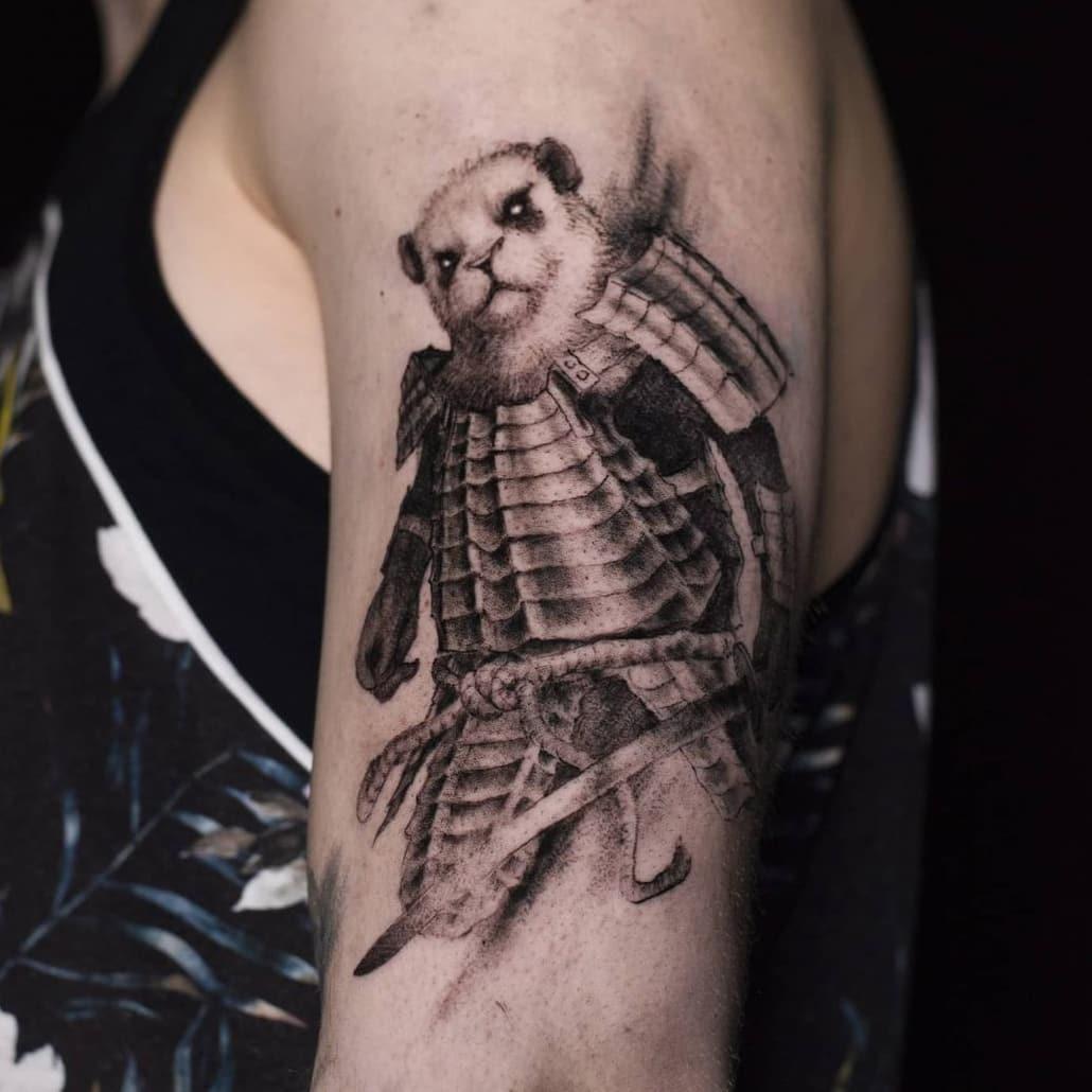 Panda Warrior Tattoo