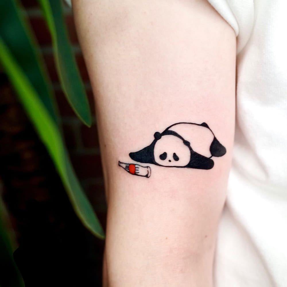 Panda and Coca-Cola tattoo