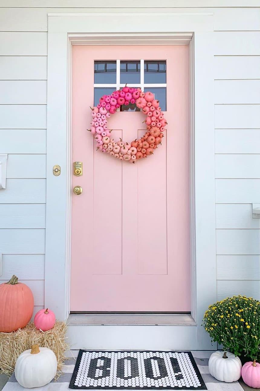 Pink Halloween Porch