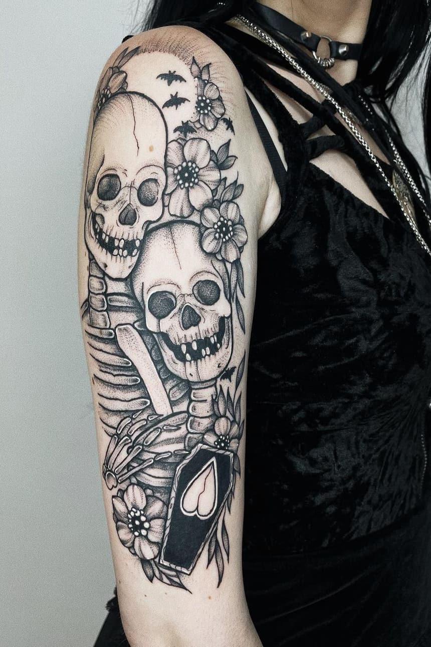 Skull Lovers Tattoo