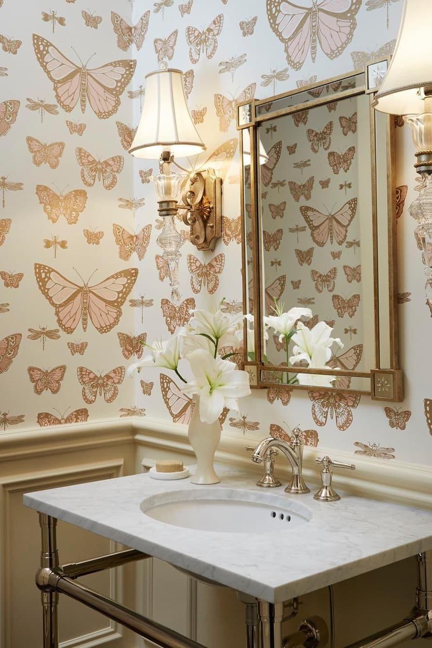 Small bathroom wallpaper