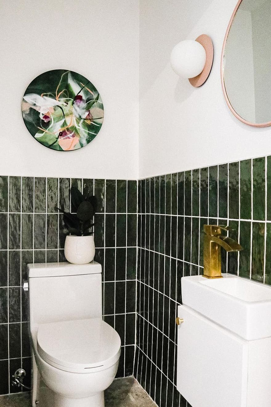 Small green bathroom