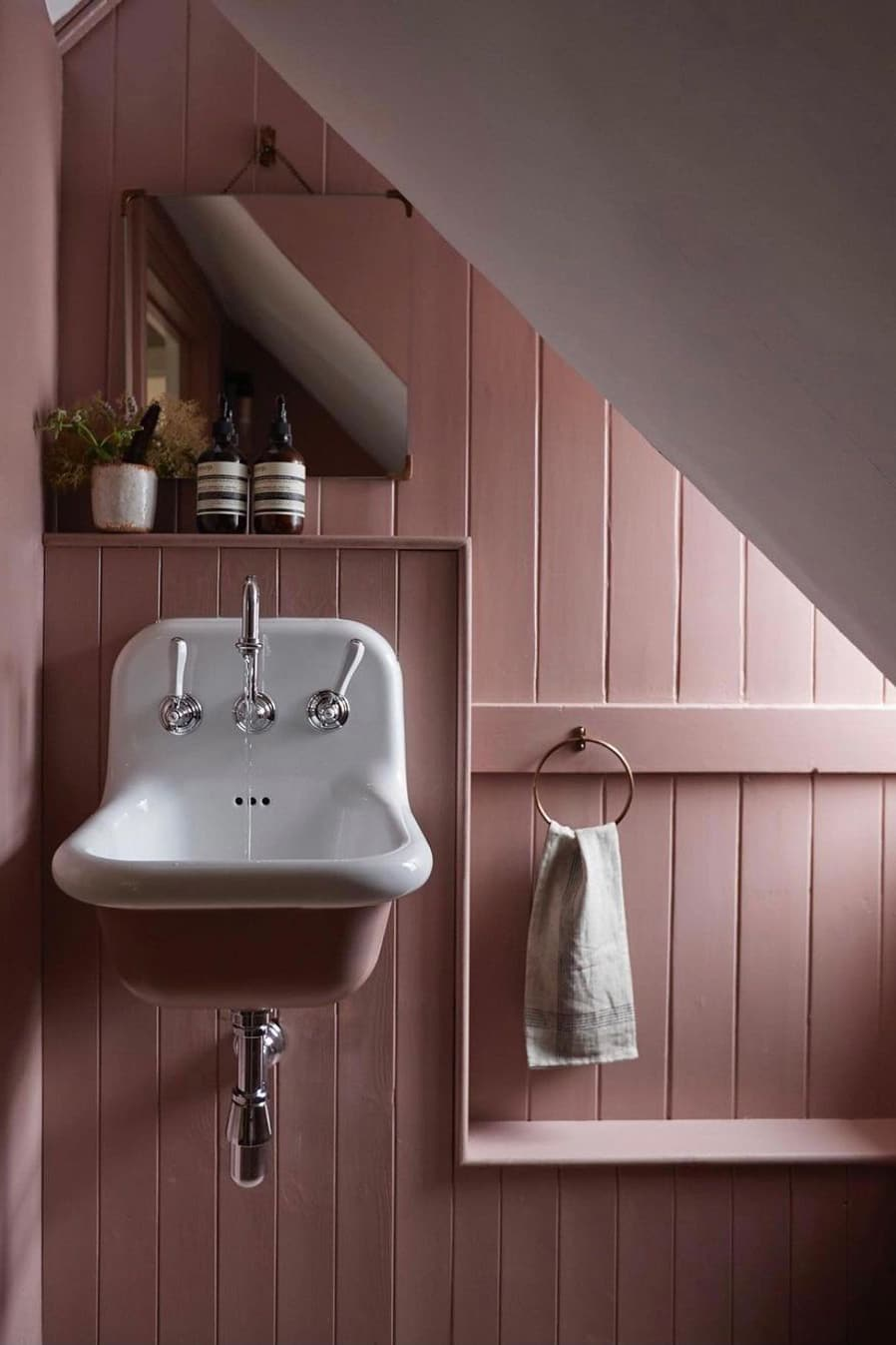 Small pink bathroom