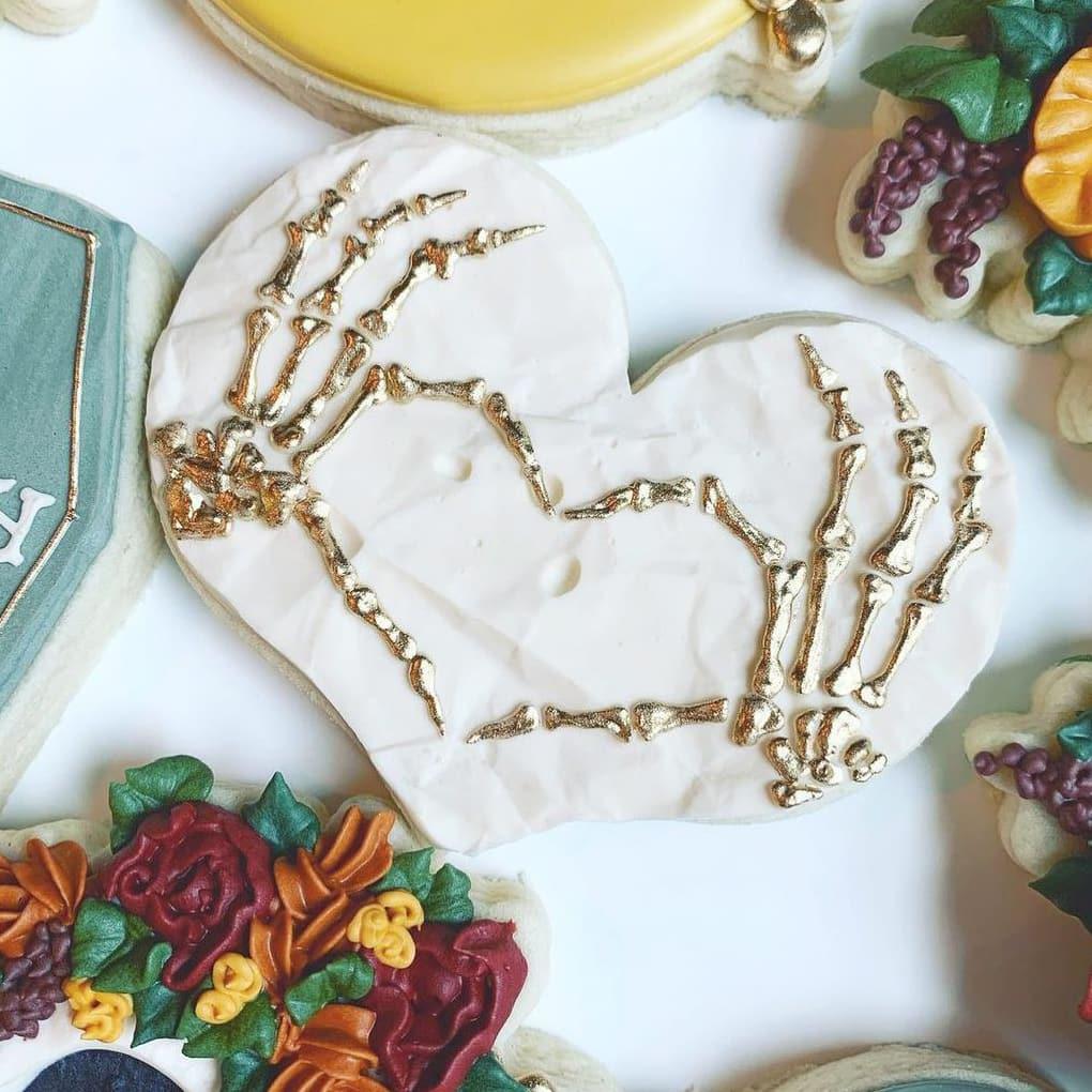White Heart Cookies