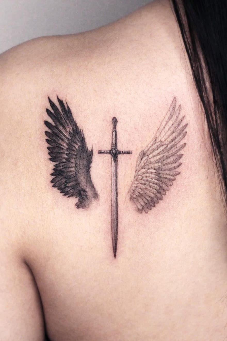 Wing Sword Tattoo