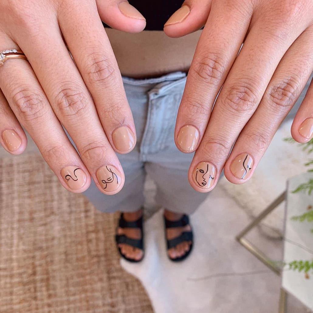 Abstract boho nails
