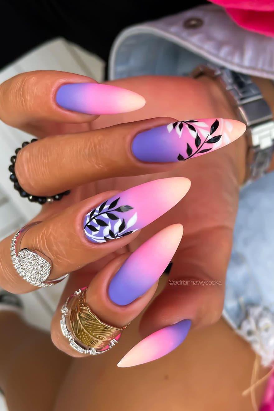 Boho gradient nails