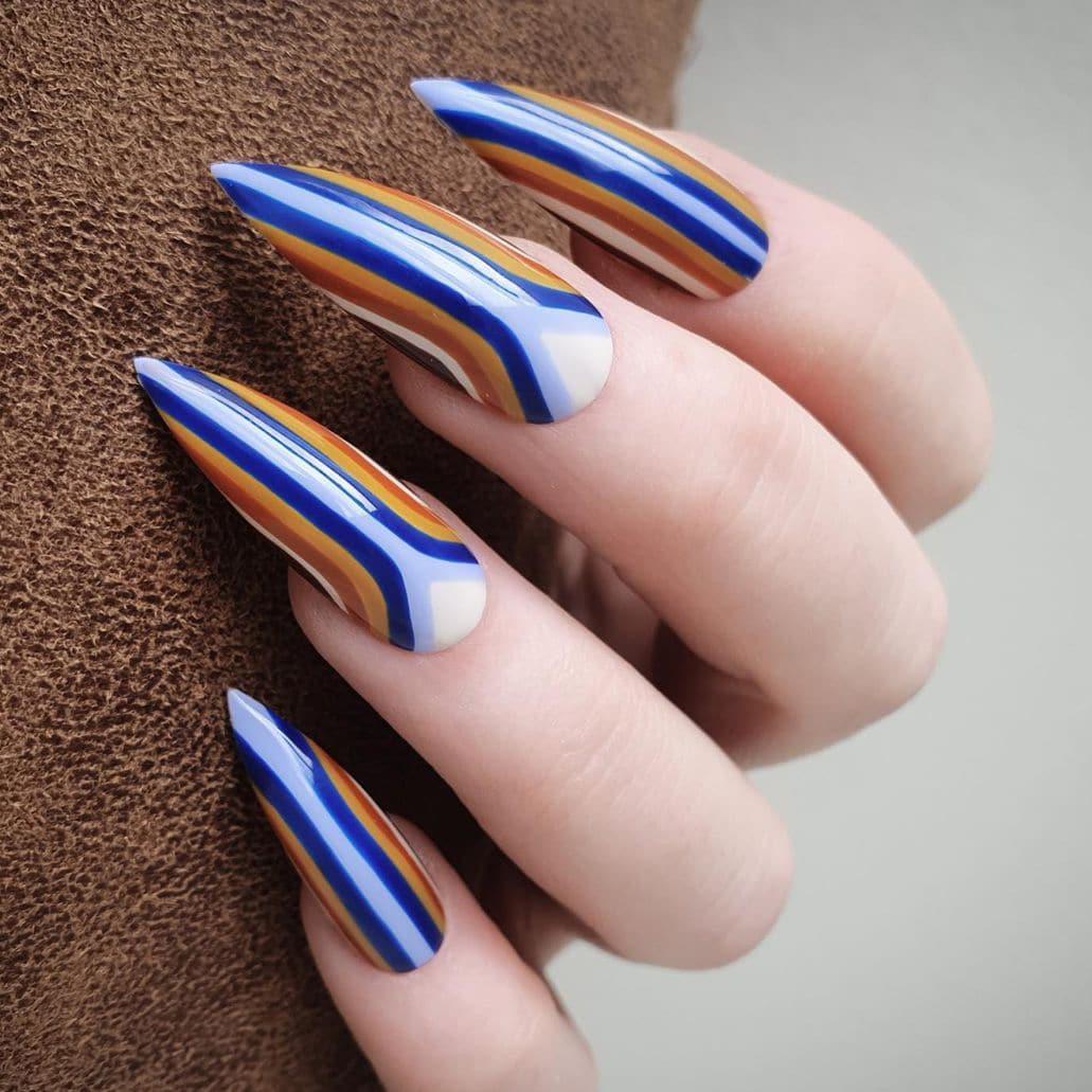 Boho stiletto nails