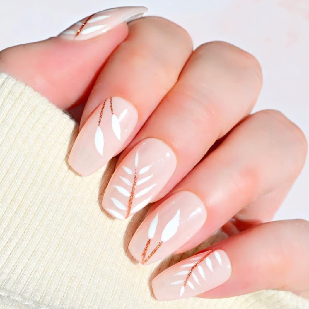 Clear boho wedding nails