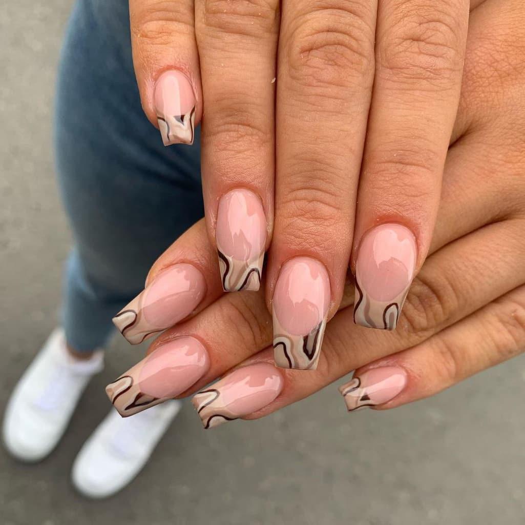 Cookie brown nails