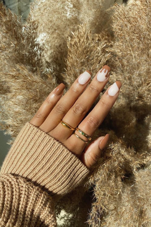 Fun brown nails