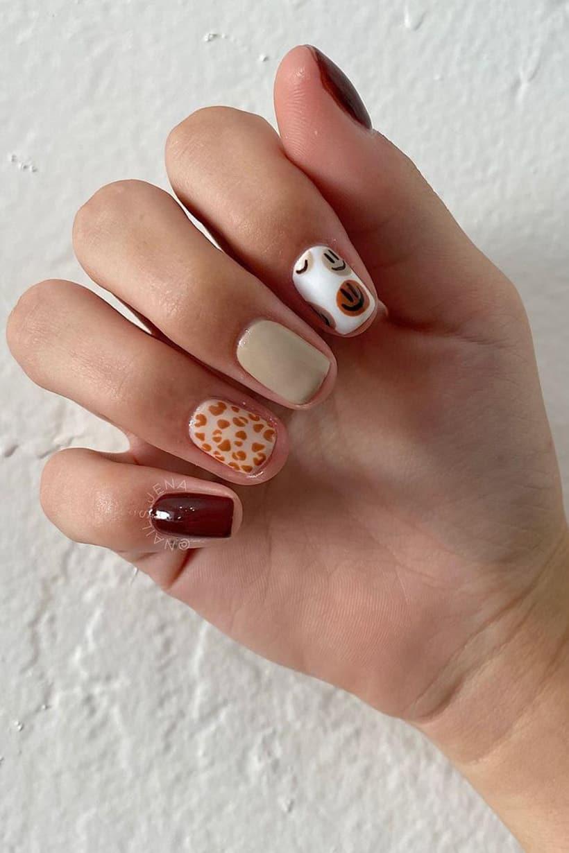 Lively boho nails