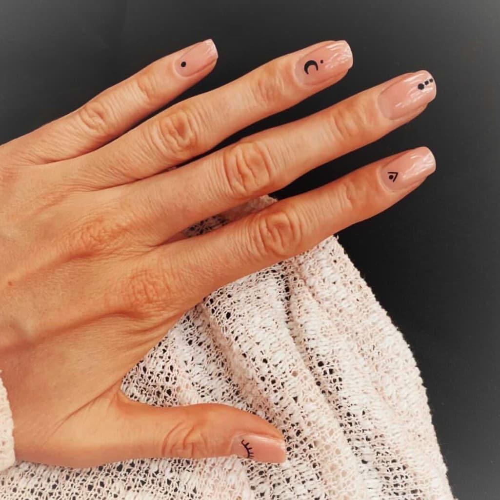 Minimalist boho nails
