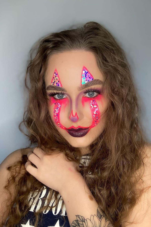 Pink shiny clown