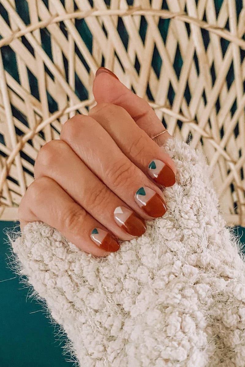 Red boho nails