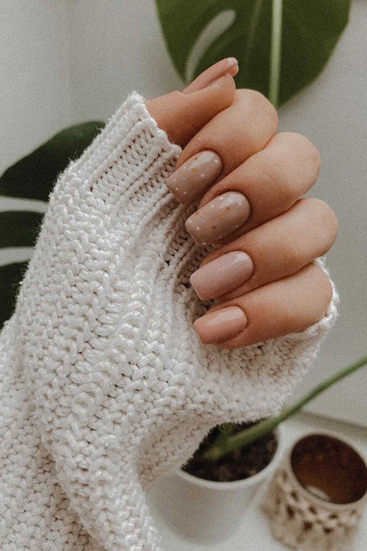 boho dots nails