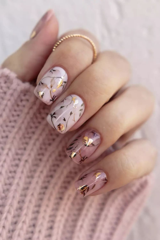 boho ink nails